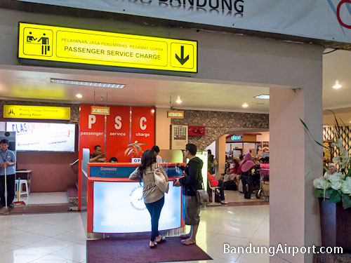 Bandung Airport Passenger Service Charge Counter