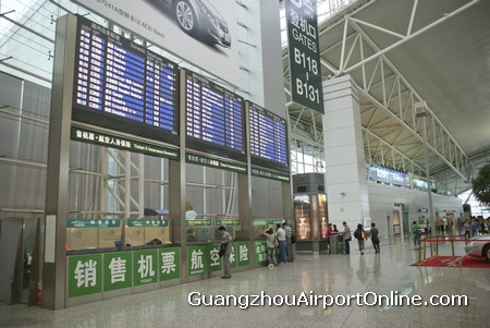 Guangzhou Airport Arrivals Departures Board