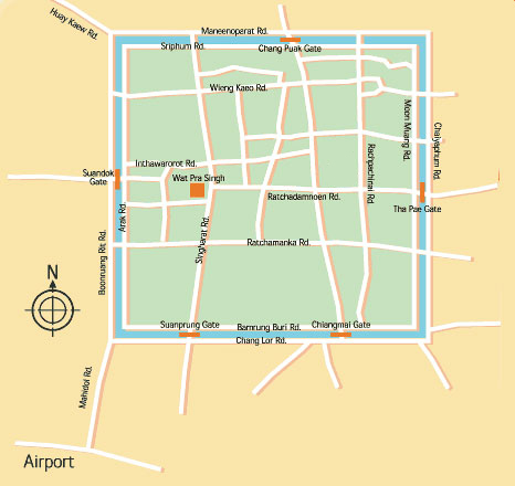 Chiang Mai Airport Map Chiang Mai Airport Guide