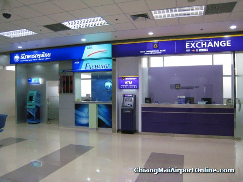 Chaing Mai International Terminal Exchange and ATMs