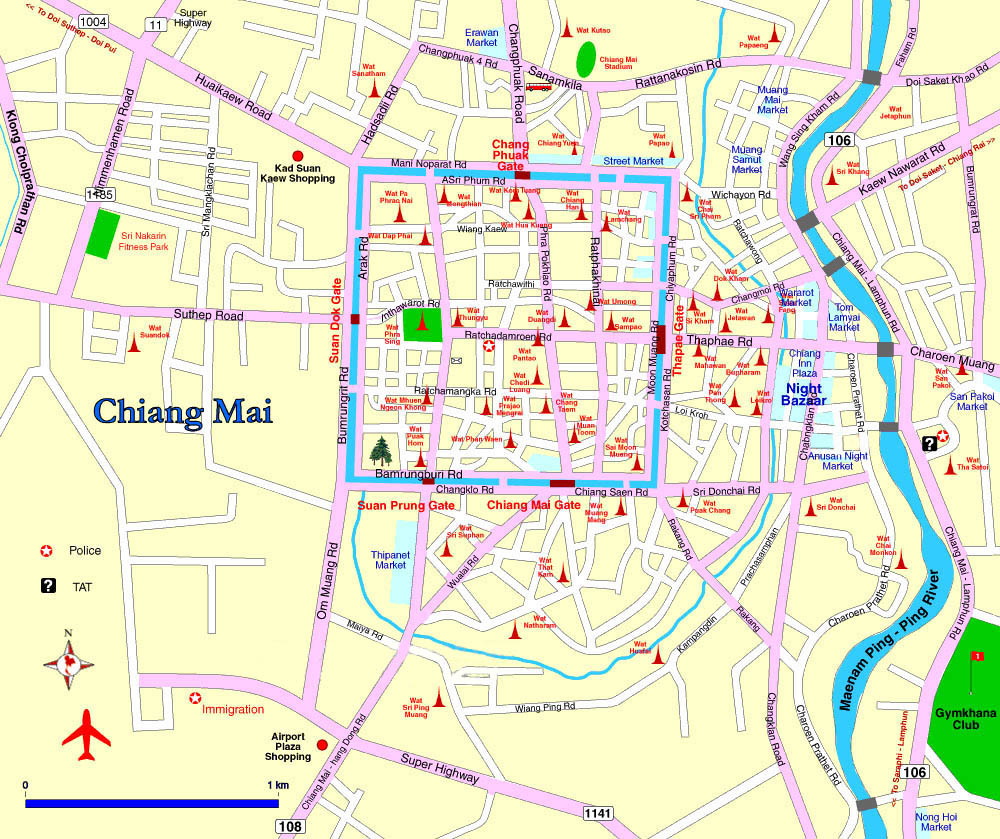 Chiang Mai Airport Detailed Map