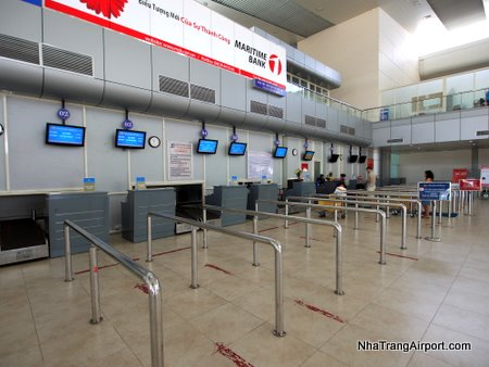 Check-in counters at Nha Trang Airport