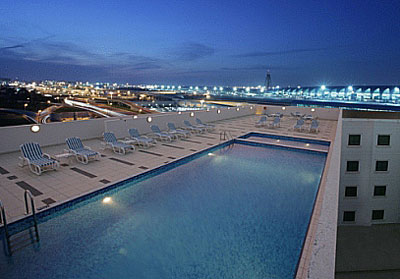 Pool at Premier Inn Dubai Airport