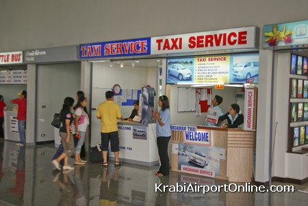 Krabi Airport Taxi Service Counters