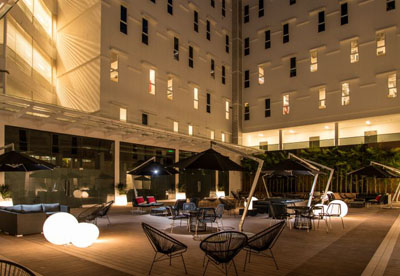 Courtyard at Tune Hotel KLIA2