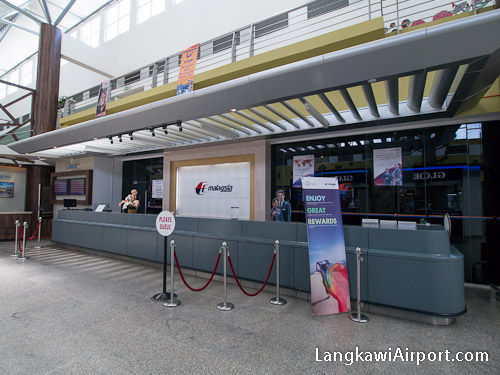 Malaysia Airlines Counter at Langkawi Airport