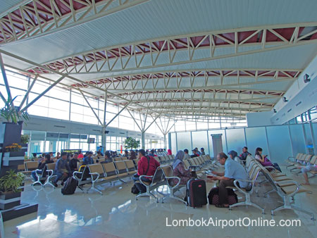 Lombok Airport Departure Gate Waiting Area