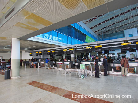 Lombok Airport Check-in Counters