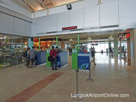 Airport Departure Tax payment counter