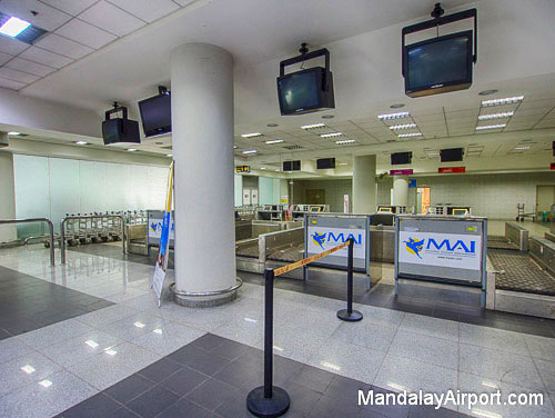 Check-in Counters at Mandalay Airport