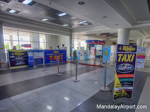 Taxi Counters at Mandalay Airport
