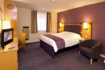 Room Interior at Premier Inn Newcastle