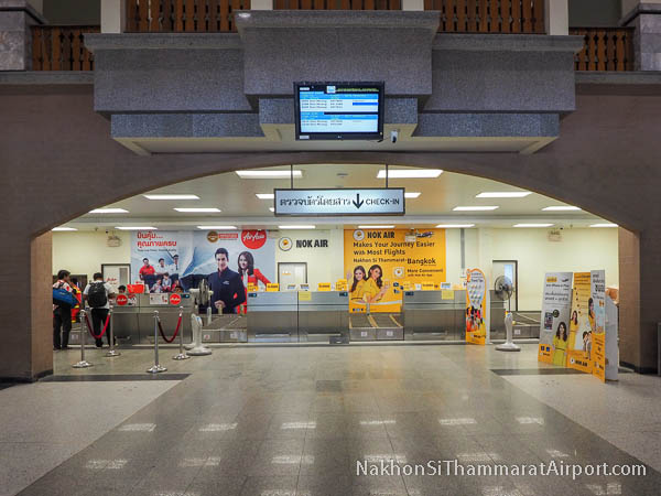 Check-in Counters Nok Air and AirAsia Nakhon Si Thammarat Airport