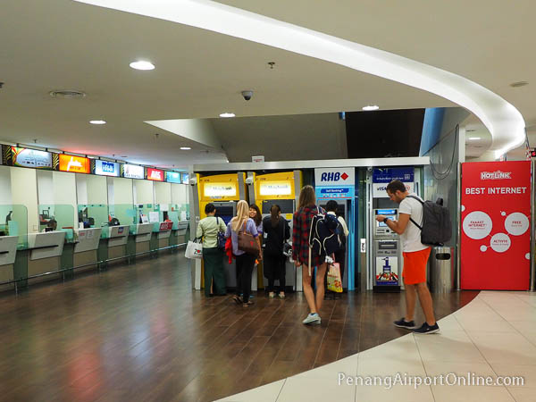 ATMs at the Arrivals Level