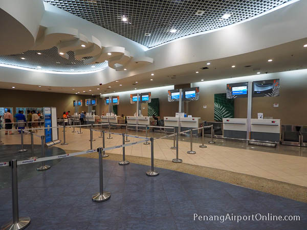 Check-in Counters at Penang Airport