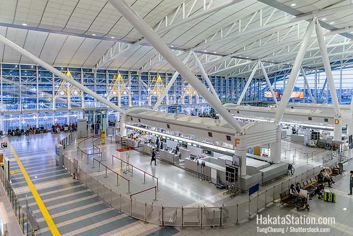 Fukuoka Airport is the fourth busiest passenger airport in Japan