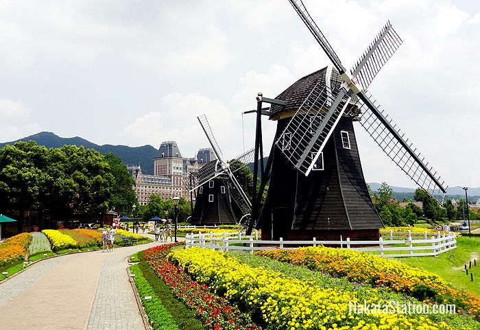 Huis Ten Bosch is a large theme park built like a traditional Dutch village