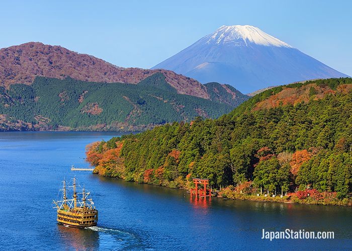 Located southwest of Tokyo, Hakone has stunning views of Mt. Fuji