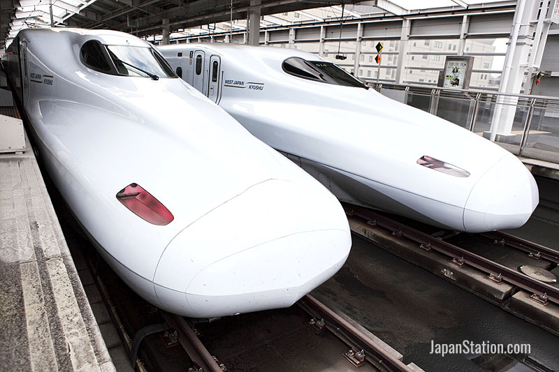 The latest N700 trains used for Nozomi super-express services