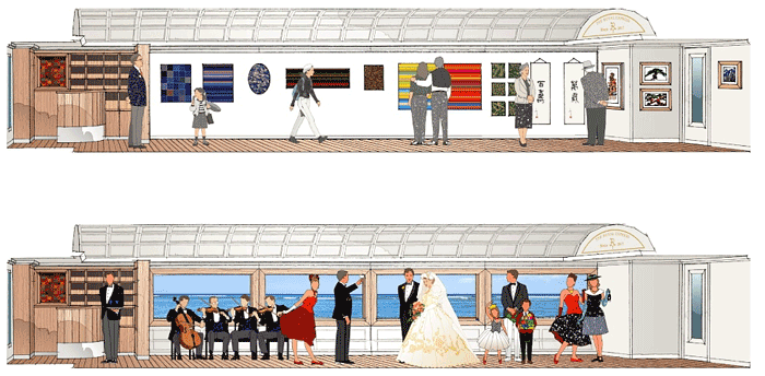 The multipurpose carriage can host a variety of functions. This image is from Eiji Mitooka's Don Design Associates
