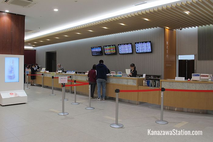 The Tourist Information counter