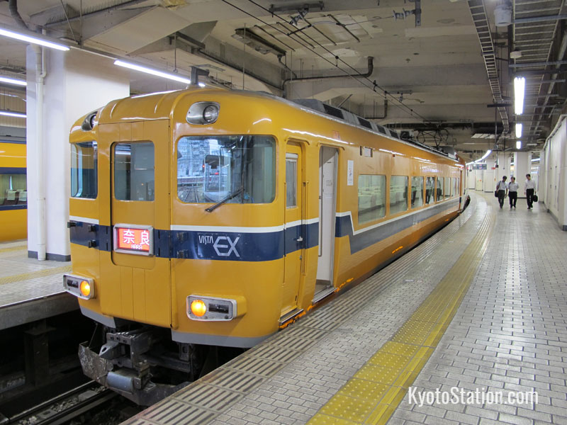 A Kintetsu train bound for Nara