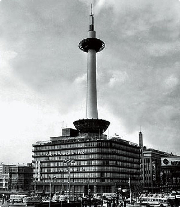 Kyoto Tower in 1964