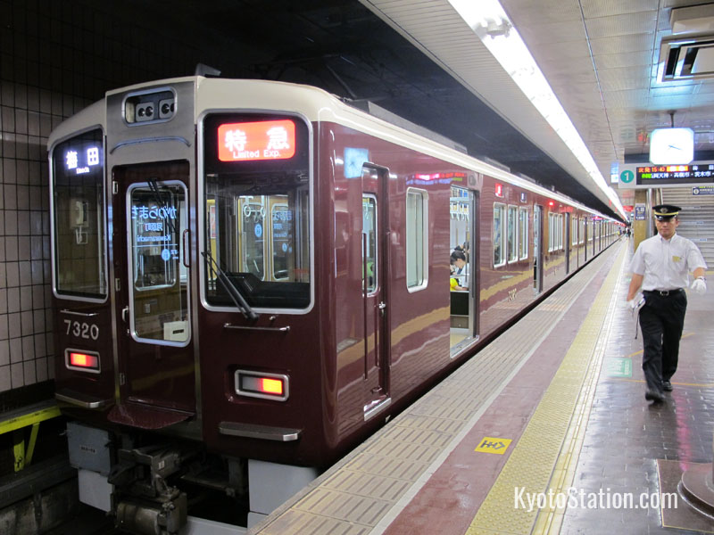 A Limited Express on Hankyu Kyoto Main Line bound for Umeda