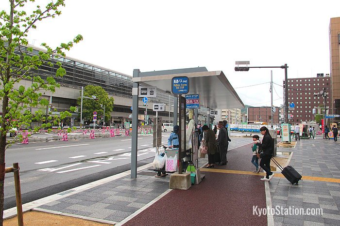 In Kyoto the overnight Nankai Express departs from the G3 bus stop outside the KKD building