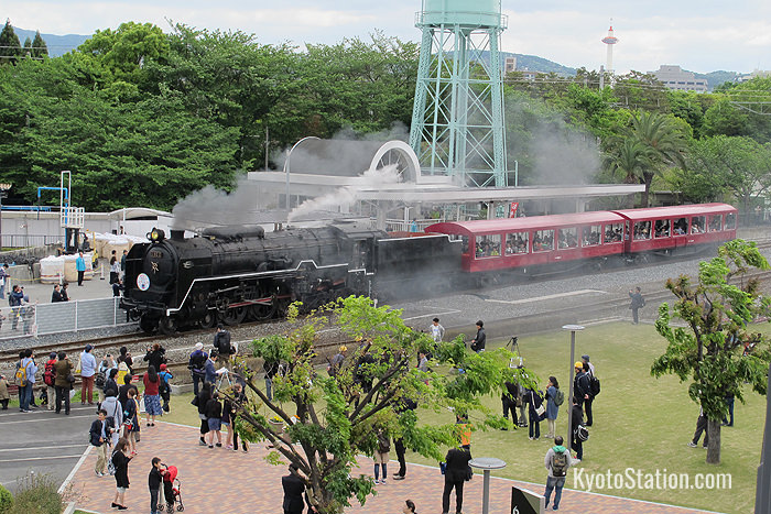 The steam train at Kyoto Railway Museum