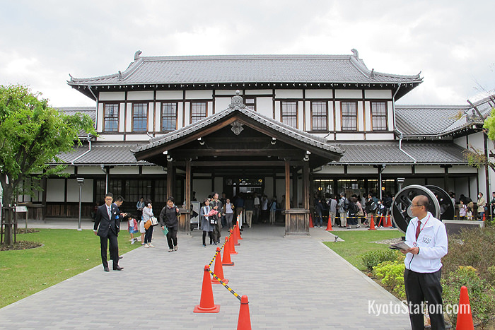The former Nijo Station building dates from 1904. It was moved to its current location in 1997