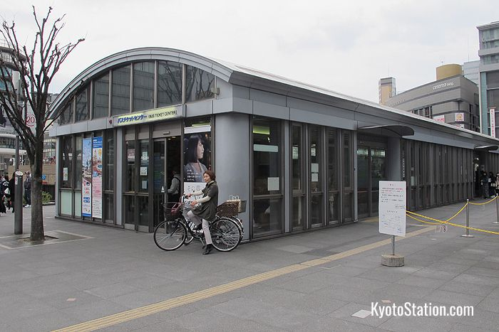 The Bus Ticket Center at Kyoto Station