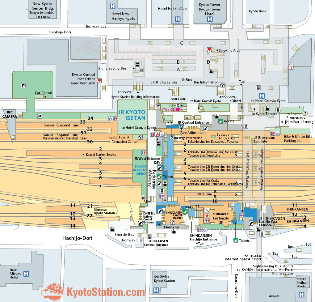 kyoto station map u2013 finding your way u2013 kyoto station
