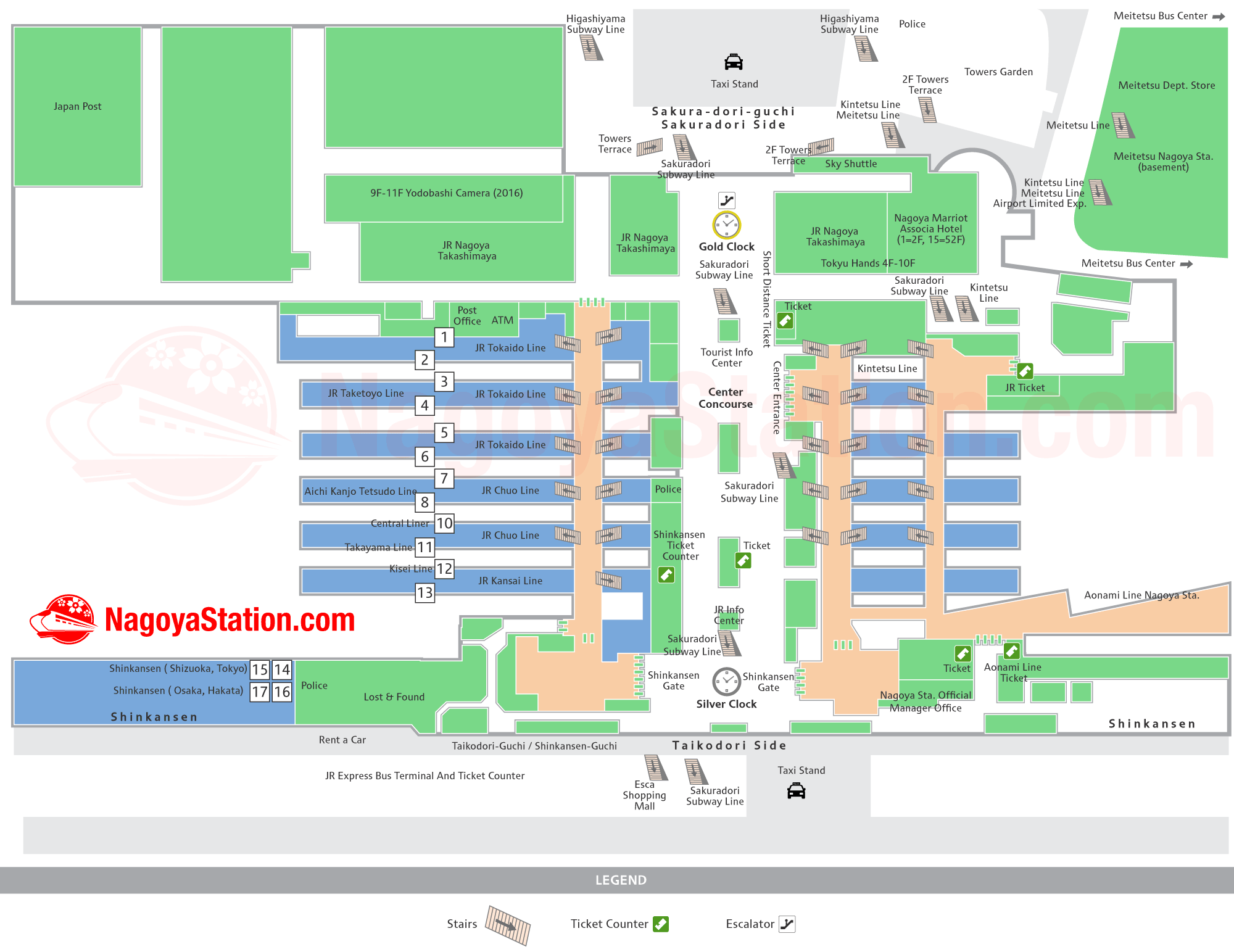 Nagoya Station Map