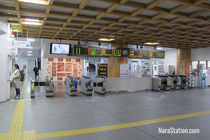 The ticket gates