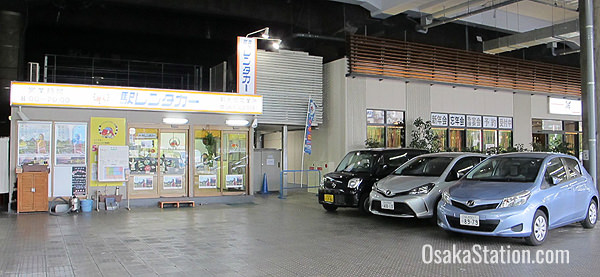Car rental on the 1st floor
