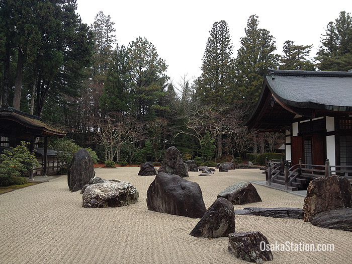 The rock garden at Kongobuji Temple
