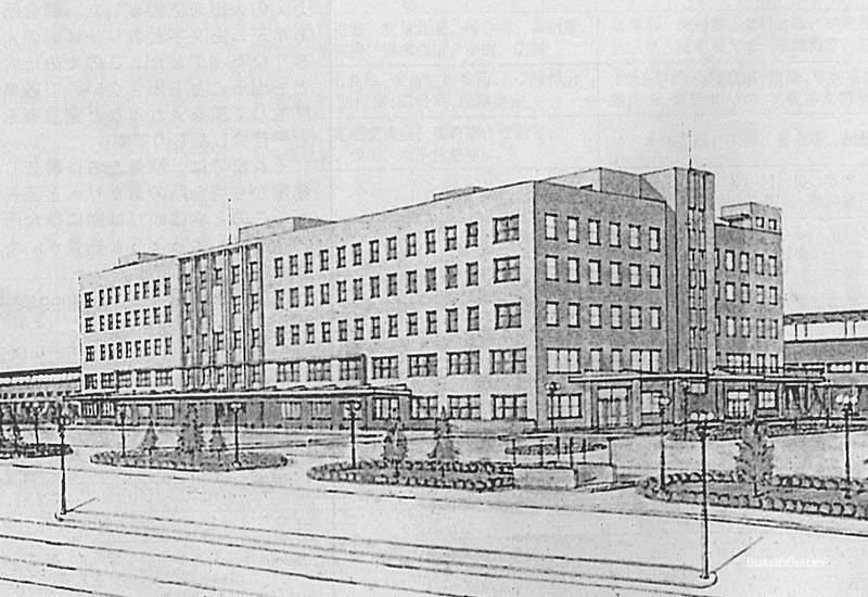 The original design plan for the third Osaka Station building
