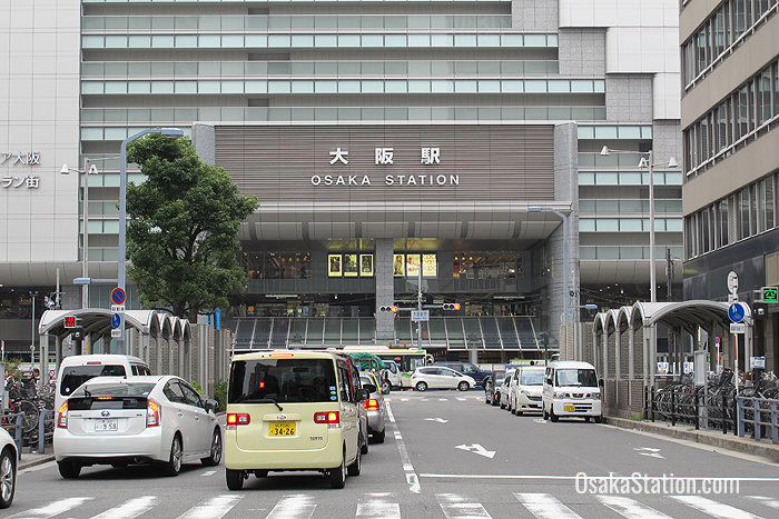 The southern entrance to Osaka Station
