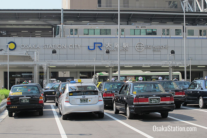 The Taxi rank for Osaka Station City