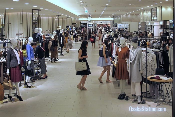 Shopping for the latest fashions at Hankyu Umeda