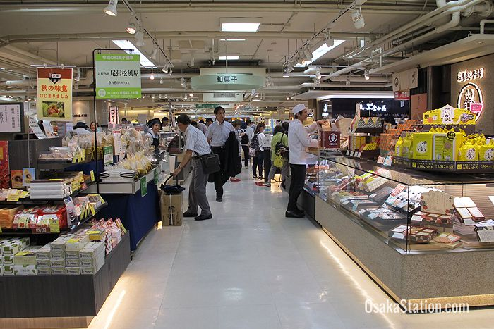 A wide variety of food and drink available in the basement Food Hall