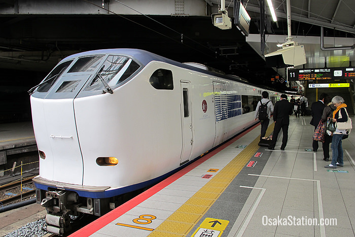 The Limited Express Haruka at Shin-Osaka Station