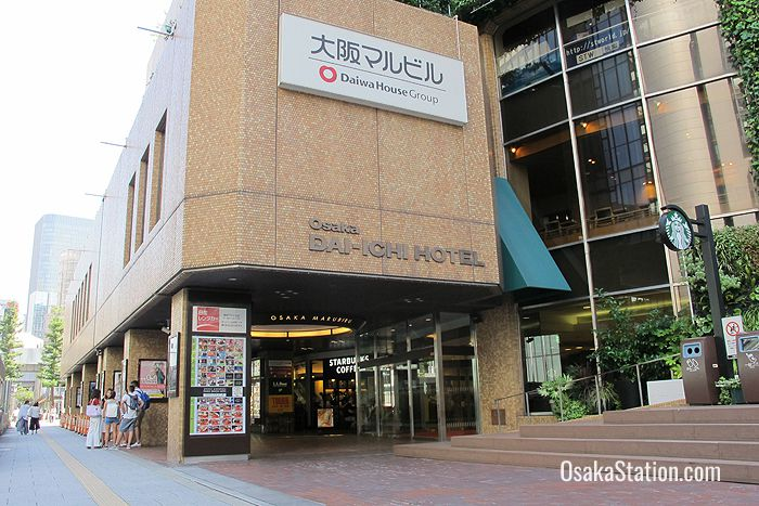 The entrance to Osaka Dai-Ichi Hotel