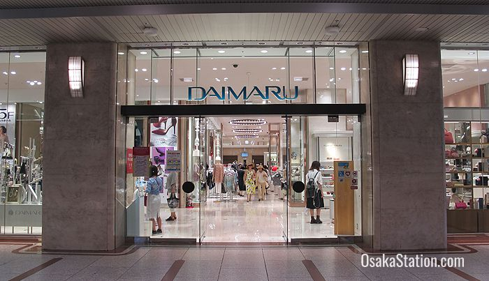 The ground floor entrance to Daimaru inside Osaka Station