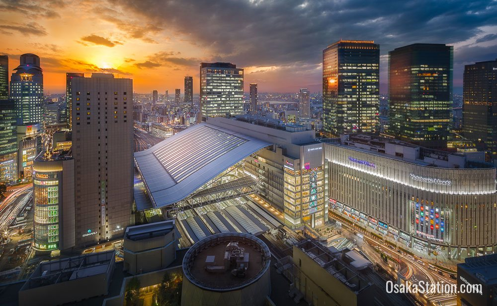 Osaka Station Night View