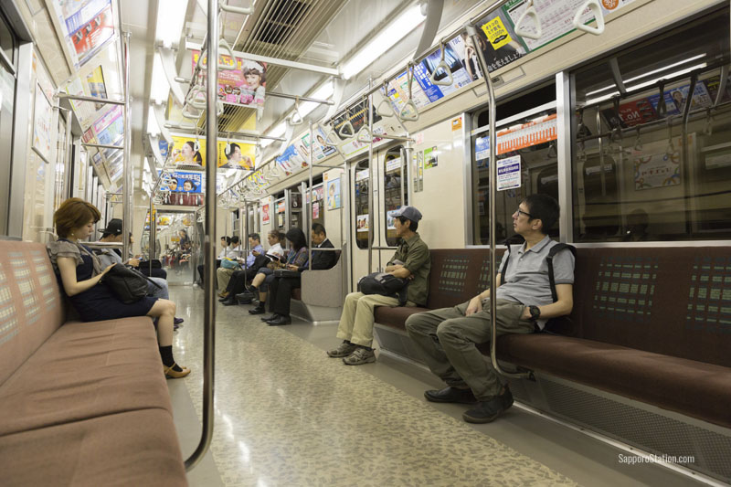 Tozai Line Sapporo Subway train interior