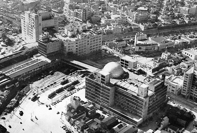 Shibuya Station's east side around 1960