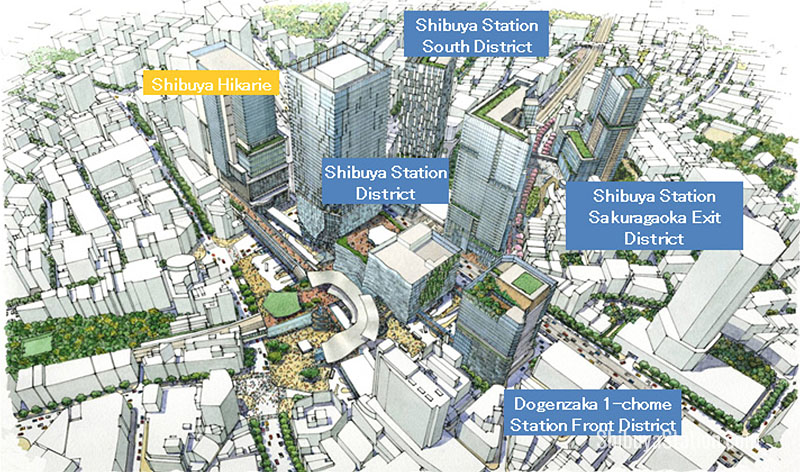 Shibuya will have four new redevelopment projects while the terminal itself gets an overhaul