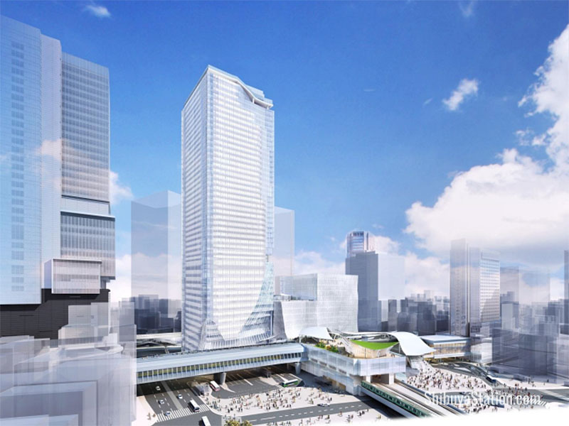 The Shibuya Station skyscraper will be the centerpiece of the new town